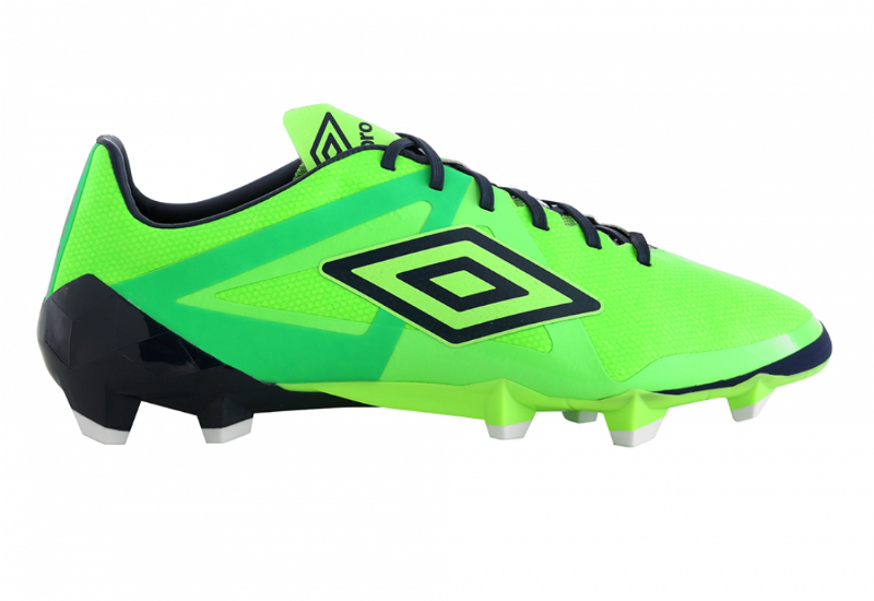 Umbro Velocita Pro Hg Football Boots Green Gecko Dark Navy Andean Toucan White