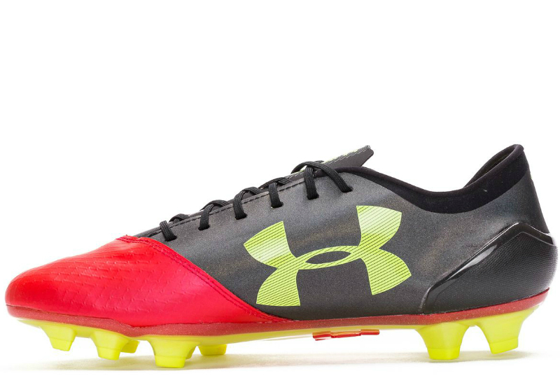 Under Armour Spotlight Pro 2 0 Fg Rocket Red High Vis Yellow Black
