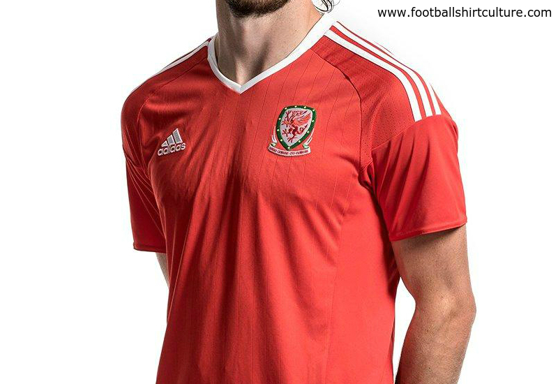 Wales 2016 Adidas Home Football Shirt