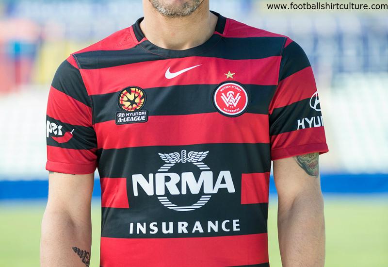 396a1edc Western Sydney Wanderers 2015 2016 Nike Home Football Shirt. Classic Shirts