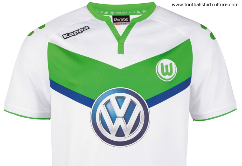Wolfsburg 2015 2016 Kappa Home Football Shirt