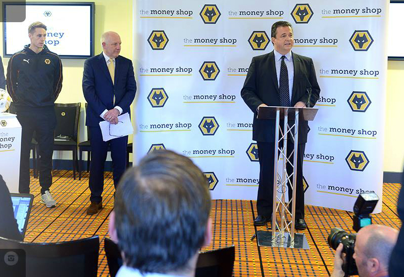 Wolverhampton Wanderers Announce The Money Shop Sponsor Deal