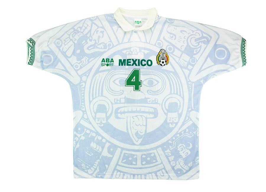 c2fec576395 ABA Sport 1998 Mexico Match Worn Away Shirt