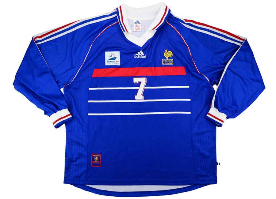 d5ef05030 Adidas 1998 France Match Issue Home Shirt