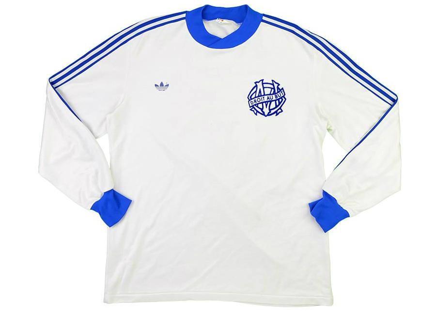sale retailer 51b94 73e38 Adidas 1981-82 Olympique Marseille Match Issue Home Shirt ...