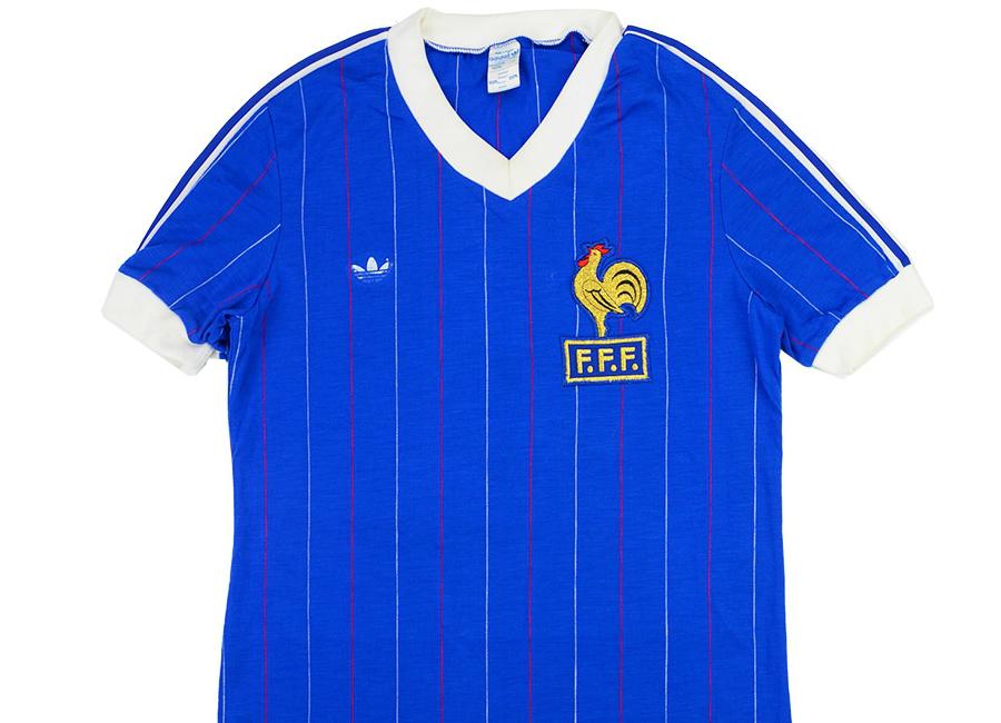 5adfe43b558 Adidas 1982 France Match Worn Home Shirt