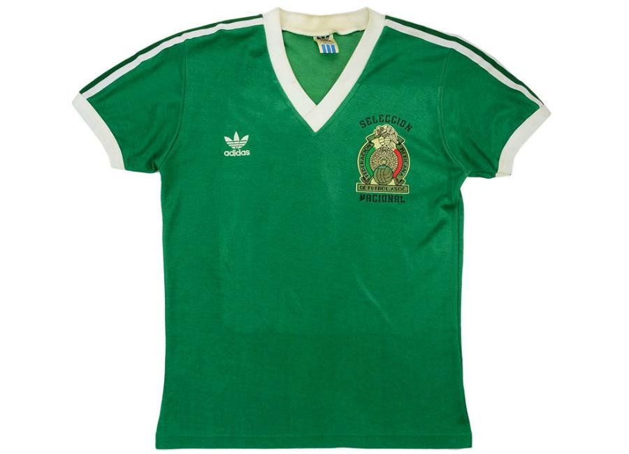 7d52379d4 Adidas 1984 Mexico Match Worn Home Shirt