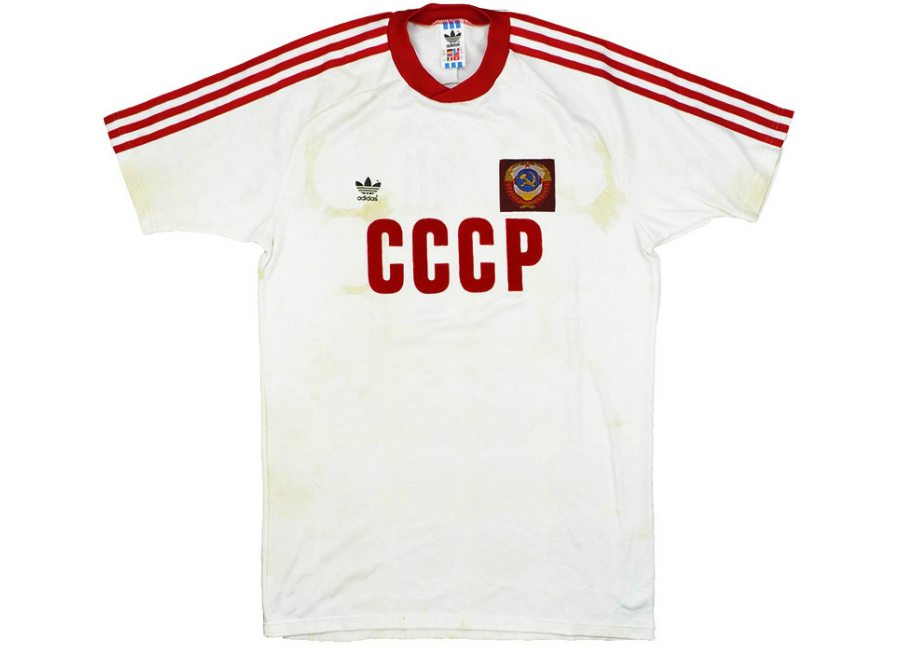 29bf9fd57 Adidas 1988 Soviet Union Match Worn European Championship Away Shirt ...