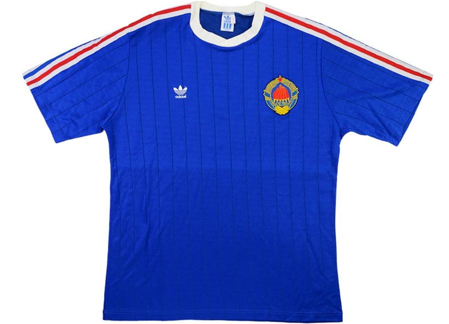 0b825411c8b Adidas 1989-90 Yugoslavia U-21 Match Issue Home Shirt