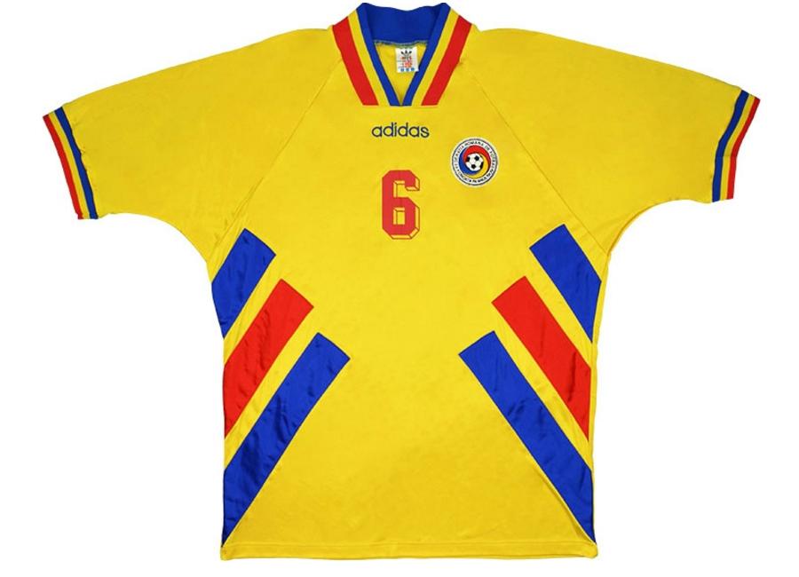 4431c7ea7813a Adidas 1994 Romania Match Worn World Cup Home Shirt   Vintage ...