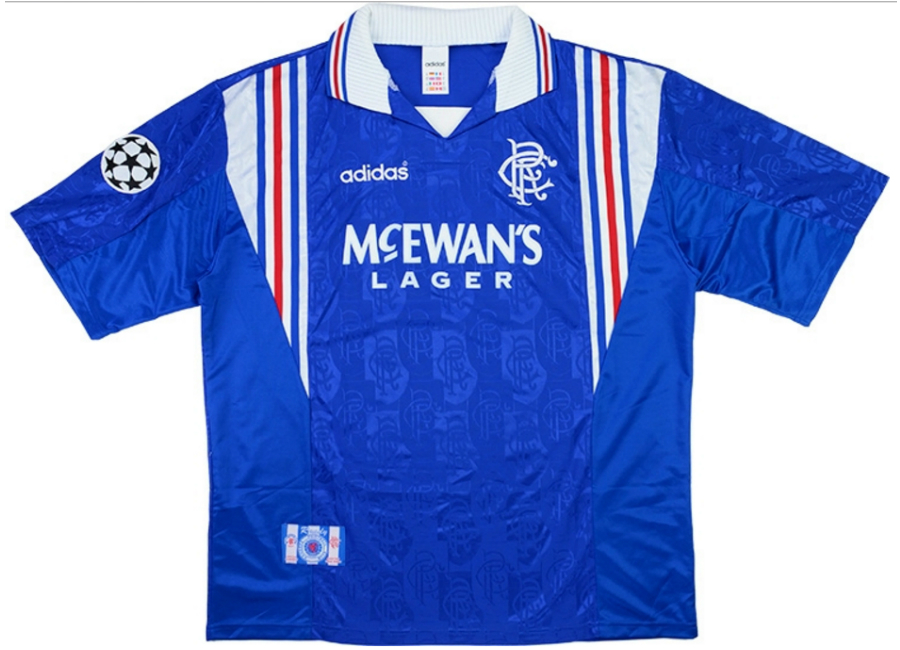 low priced 3f25d c04c8 Adidas 1996-97 Rangers Match Worn Champions League Home ...