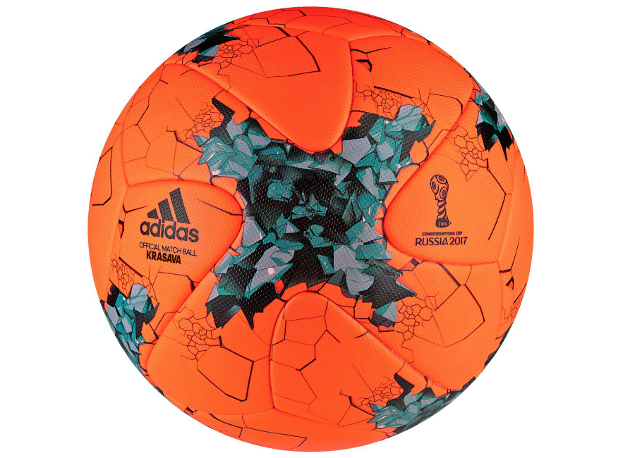 Adidas 2017 Confederations Cup Krasava Winter Match Ball Solar Orange