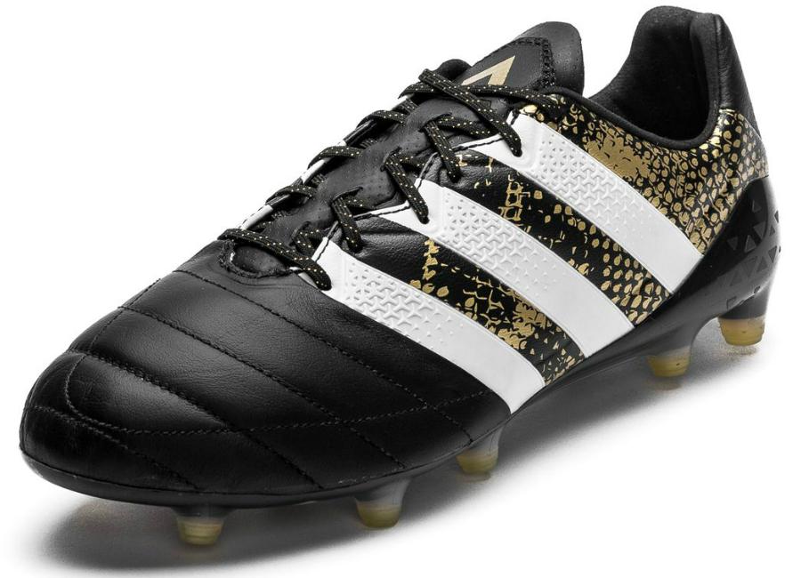 24c6d3282 Adidas ACE 16.1 Leather FG/AG - Stellar Pack - Core Black / White / Gold  Metallic