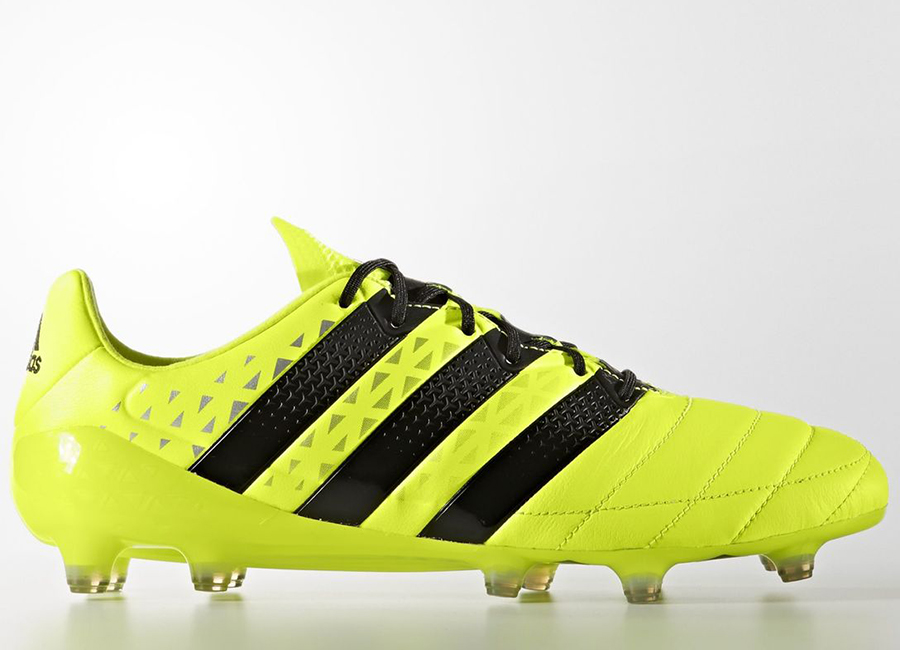 Adidas Ace 16 1 Leather Firm Ground Boots Solar Yellow Core Black Silver Met