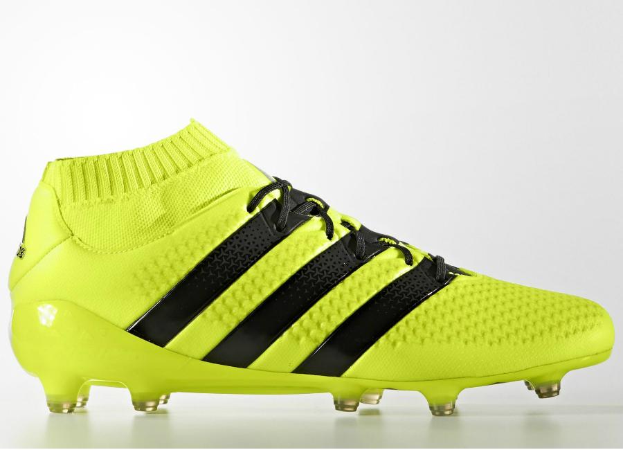sneakers for cheap df858 fd6ff ... australia adidas ace 16.1 primeknit firm ground boots solar yellow core  black silver met 7552a ecc5a