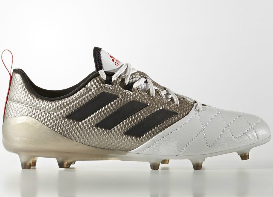Adidas Ace 17 1 Firm Ground Boots Platin Metallic Core Black Core Red