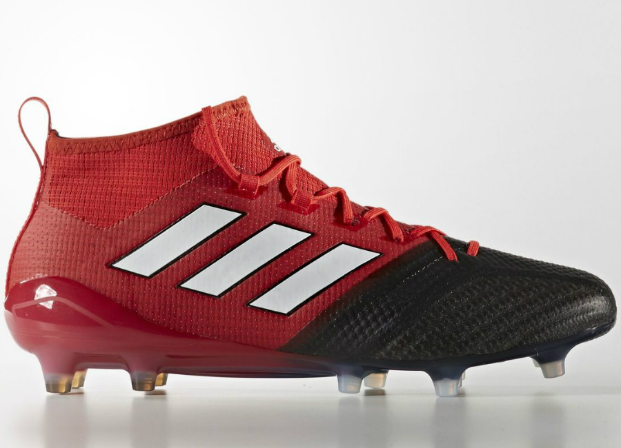 Adidas Ace 17 1 Primeknit Firm Ground Boots Red Footwear White Core Black