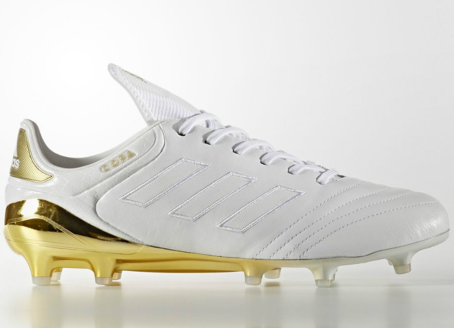 Adidas Copa 17 1 Crowning Glory Firm Ground Boots Footwear White Gold Metallic