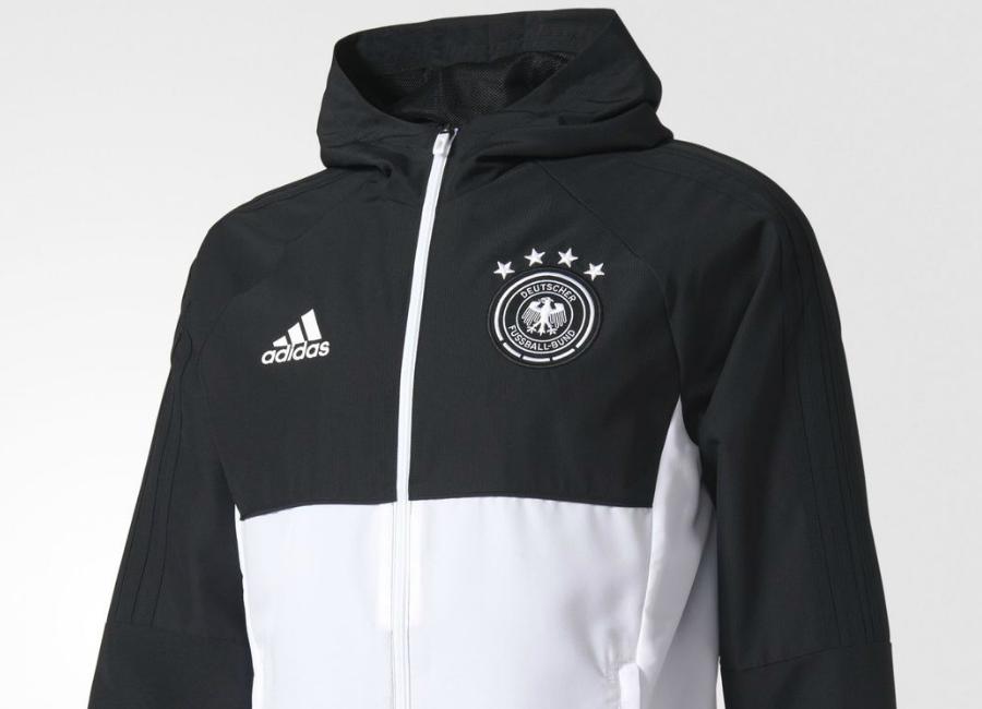 Adidas Germany Presentation Jacket Black White
