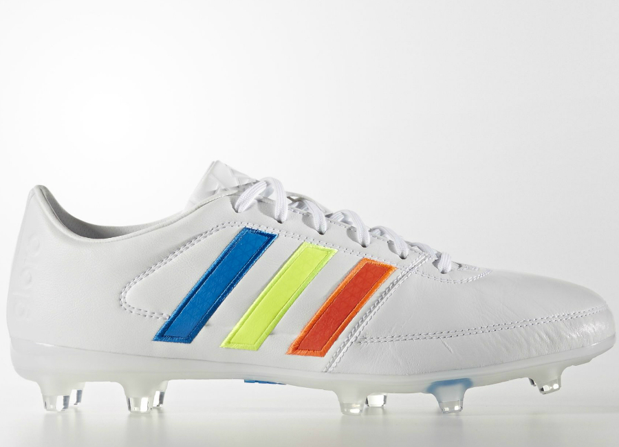 Adidas Gloro 16 1 Firm Ground Boots White Solar Yellow Shock Blue