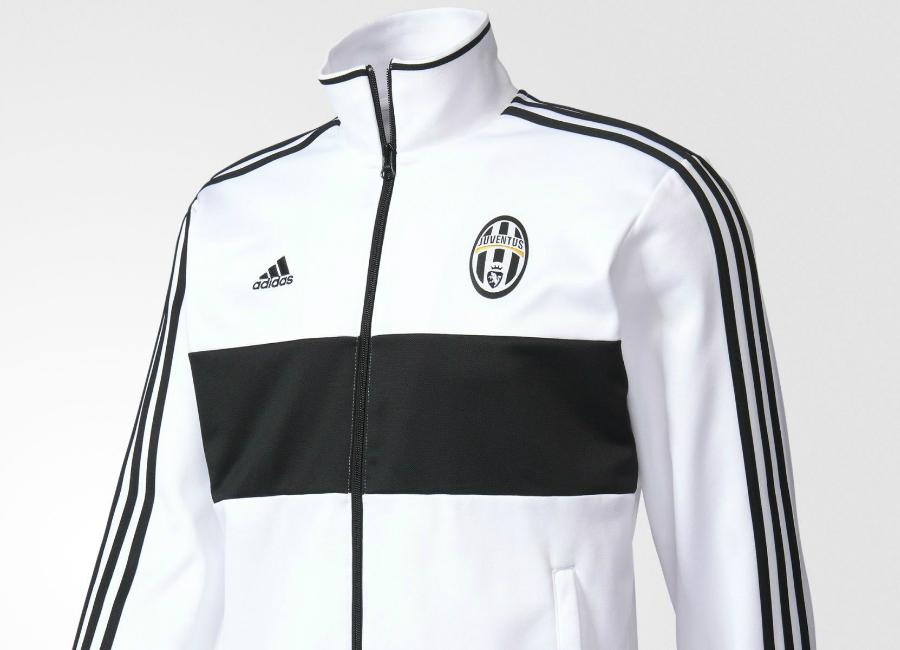 adidas juventus 3stripes track jacket white black