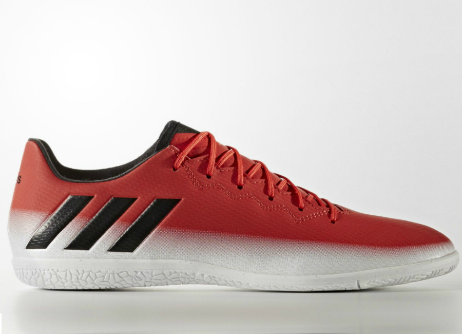 Adidas Messi 16 3 Indoor Boots Red Core Black Footwear White