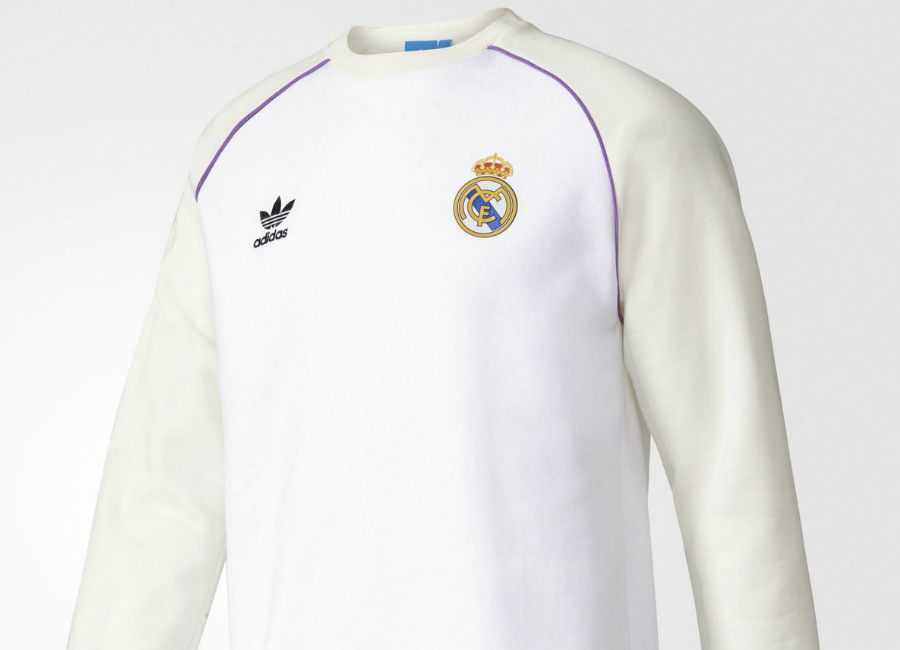 bbcb79b00 Adidas Originals Real Madrid Crew Sweatshirt - White   Off White ...