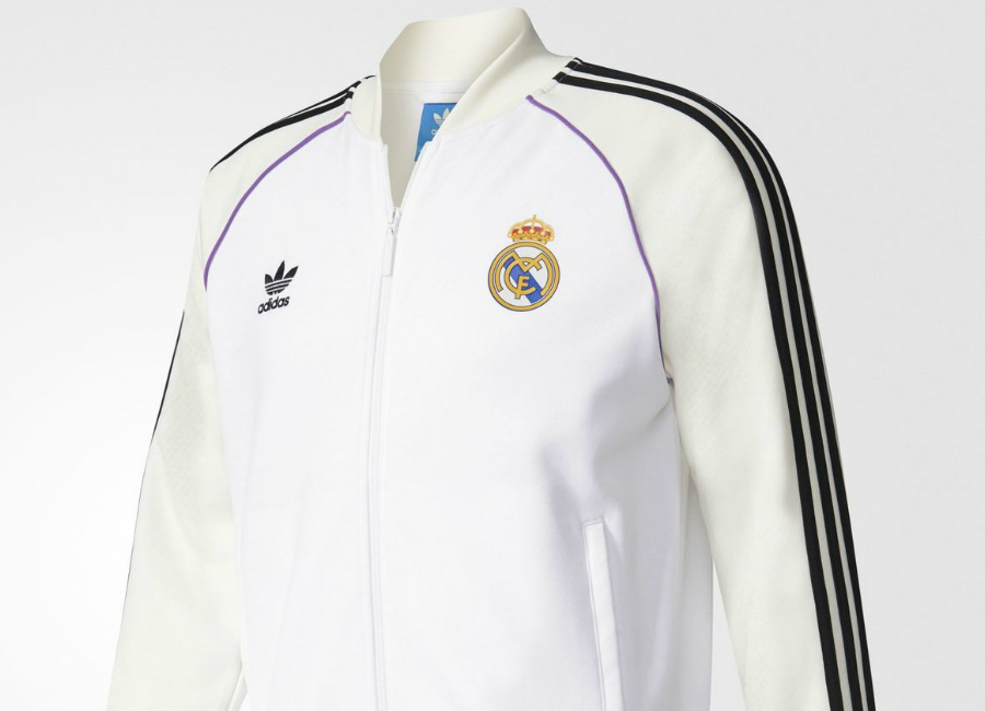 Adidas Originals Real Madrid Track Jacket White Off White