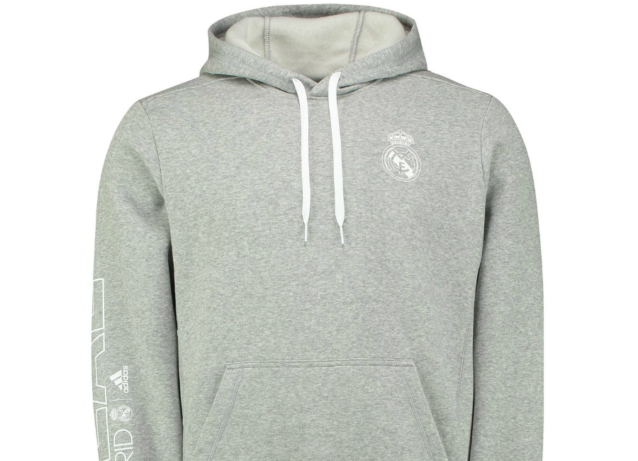 Adidas Real Madrid Core Hoodie Medium Grey Heather