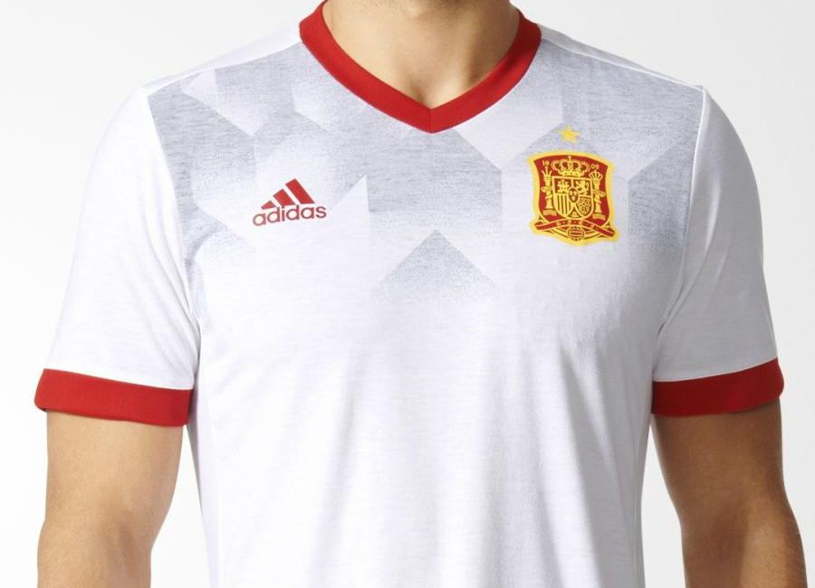 9ad24d158 Adidas Spain 2017 Home Pre-Match Jersey - White   Scarlet ...