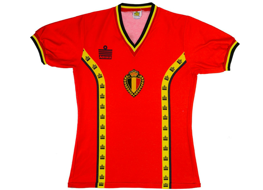 5d45879dd61 Admiral 1983 Belgium Match Worn Home Shirt