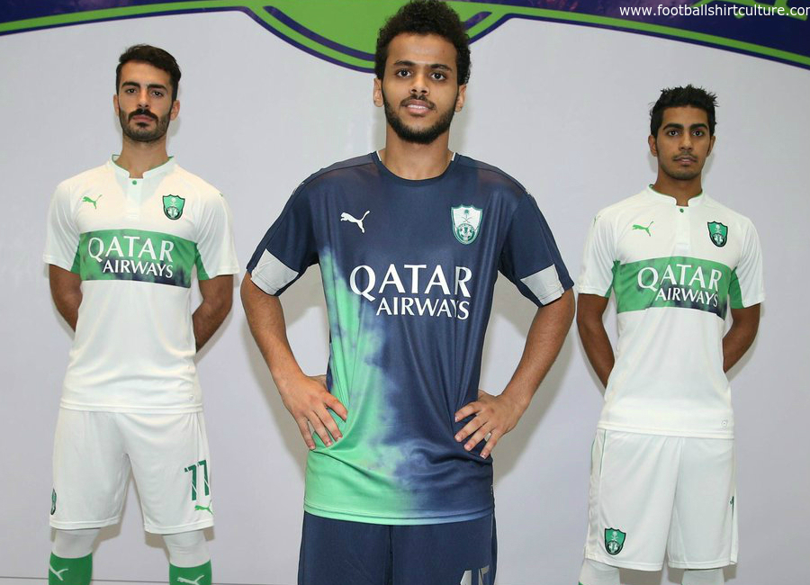 Al Ahli Saudi 16 17 Puma Home Away Kits