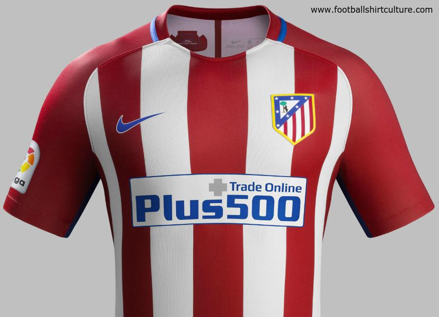 super popular 6c3dd d8785 Atlético Madrid 16/17 Nike Home Kit | 16/17 Kits | Football ...