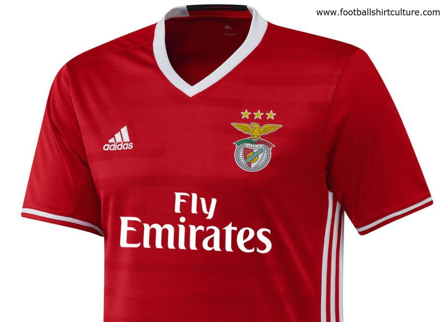 detailed look 506bd 79c00 Benfica 16/17 Adidas Home Kit | 16/17 Kits | Football shirt blog