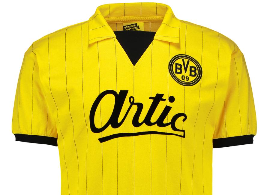 discount 102e4 5416f Borussia Dortmund 1983 Home Artic Retro Shirt | Retro ...