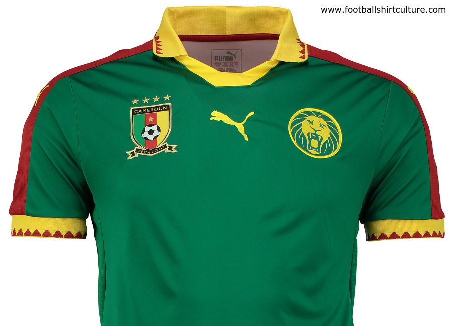 Cameroon 2017 Africa Cup Puma Home Shirt
