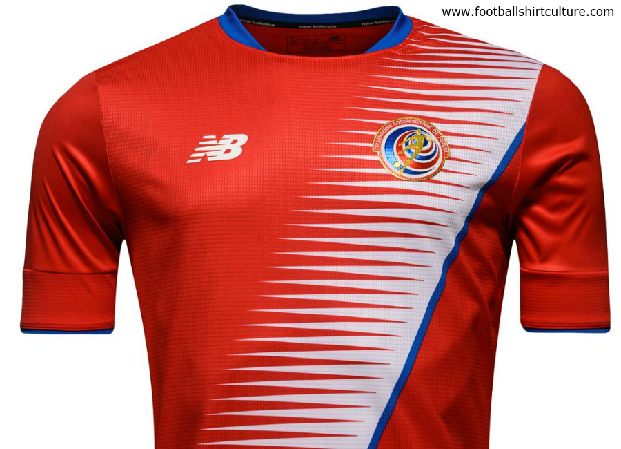 Costa Rica 2016 2017 New Balance Home Shirt Kit