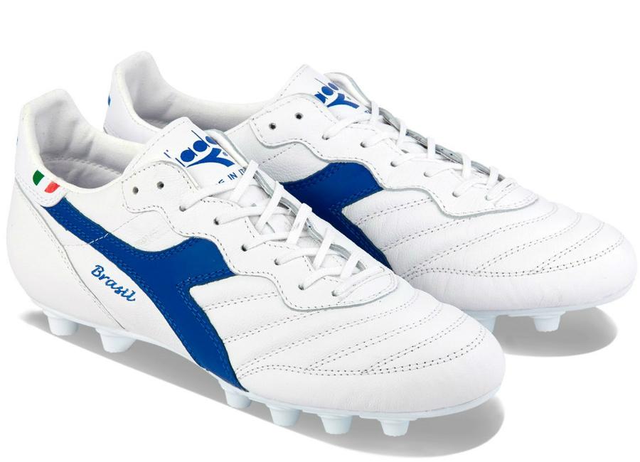 10c92afab5b0 Diadora Brasil Italy OG MDPU Football Boots - White / Royal ...