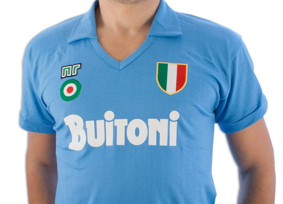 Ennerre Napoli 1986 87 Home Buitoni Retro Shirt  73bec4d3b