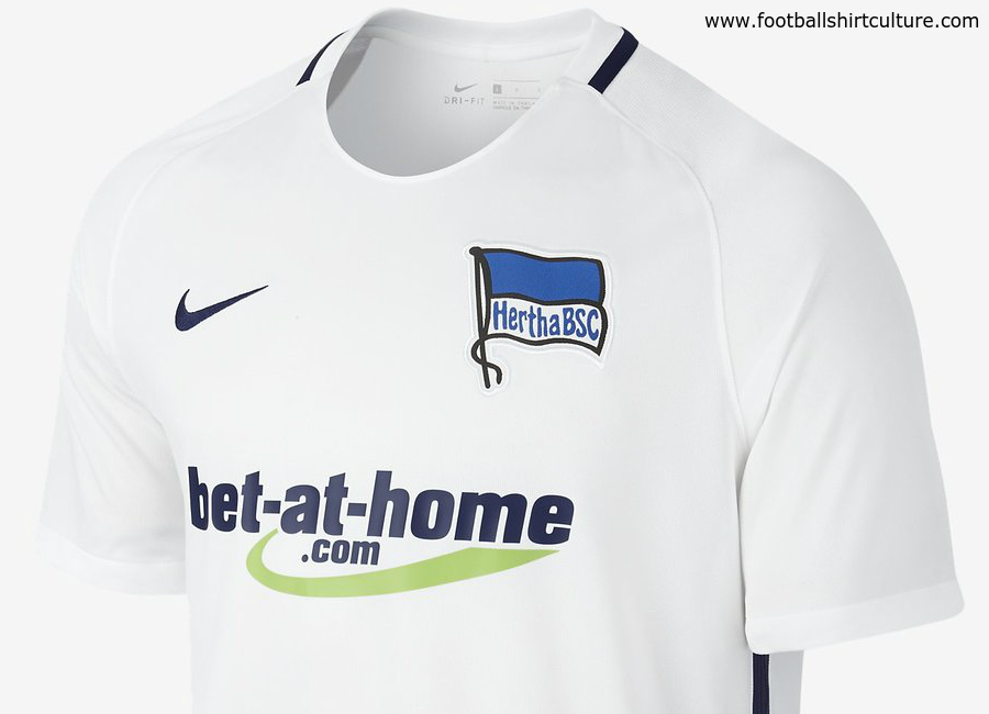 This is the new Hertha BSC 16 17 away football shirt by Nike. 41afc9177