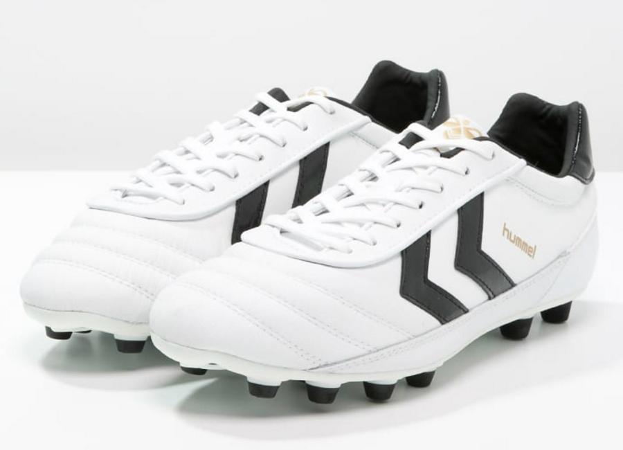 195e1003d ... Hummel Old School DK FG Football Boots - White Black Gold Football  boots Football shirt ...