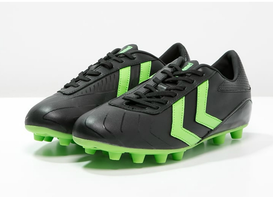 Hummel Rapid Fg Football Boots Black Green Gecko