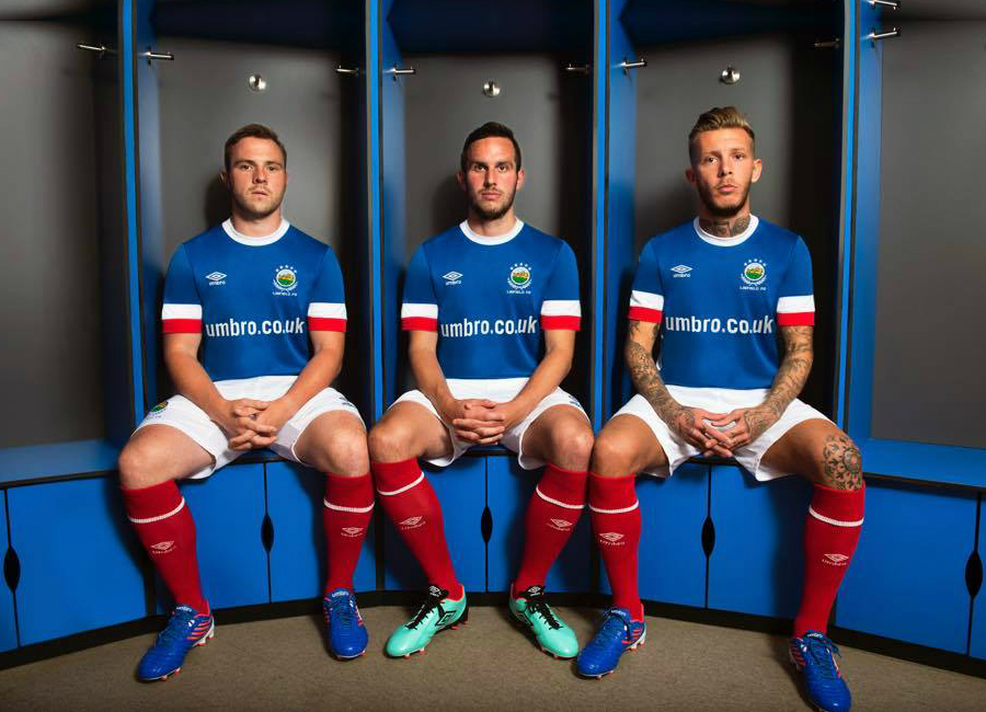 Introducing the new Umbro 2016 /17 Linfield Home Kit