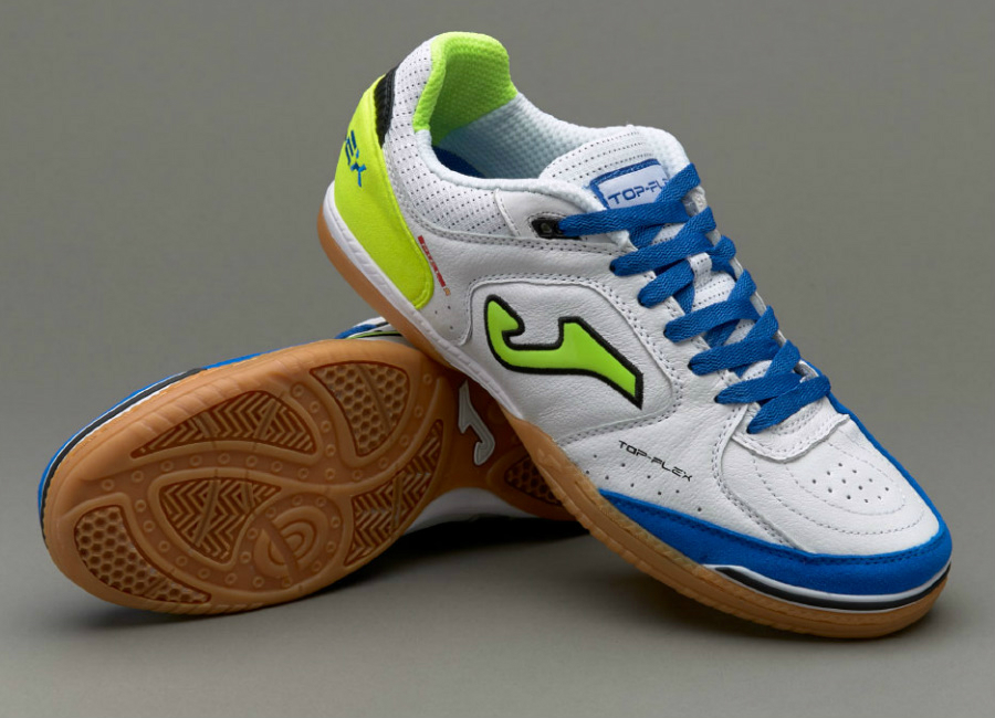 reputable site 9122a e9db6 Joma Top Flex Leather IN - White   Lime   Blue