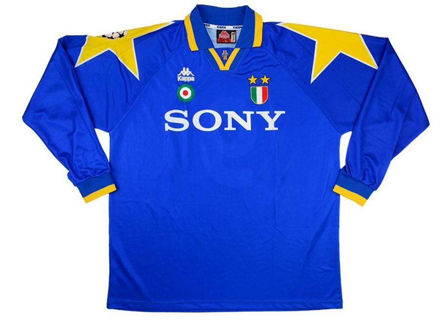 4508c4db8 Kappa 1995-96 Juventus Match Issue Champions League Final Away Shirt ...