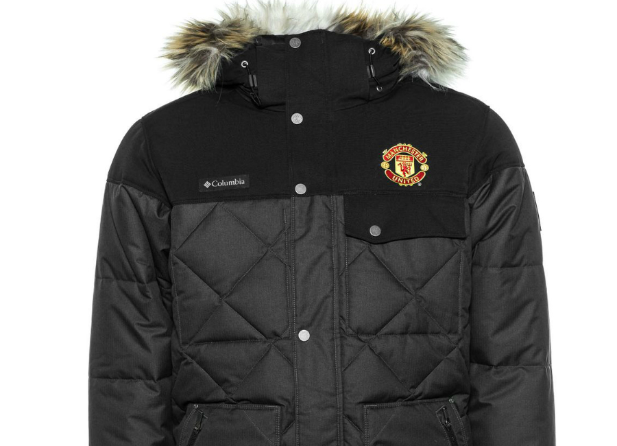 Manchester United x Columbia Jacket Barlow Pass 550 TurboDown Quilted -  Black  1822a2afaa