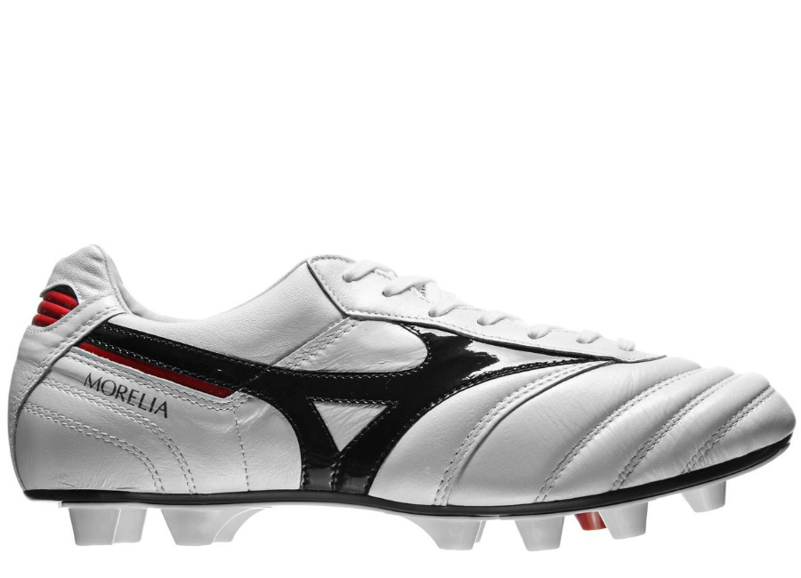 66d7d3935fce Mizuno Morelia II Made In Japan FG - White / Black / Red   Football ...