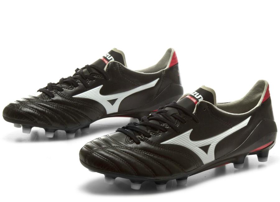 e67678671 Mizuno Morelia Neo II MD FG Football Boots - Black   White   Red ...