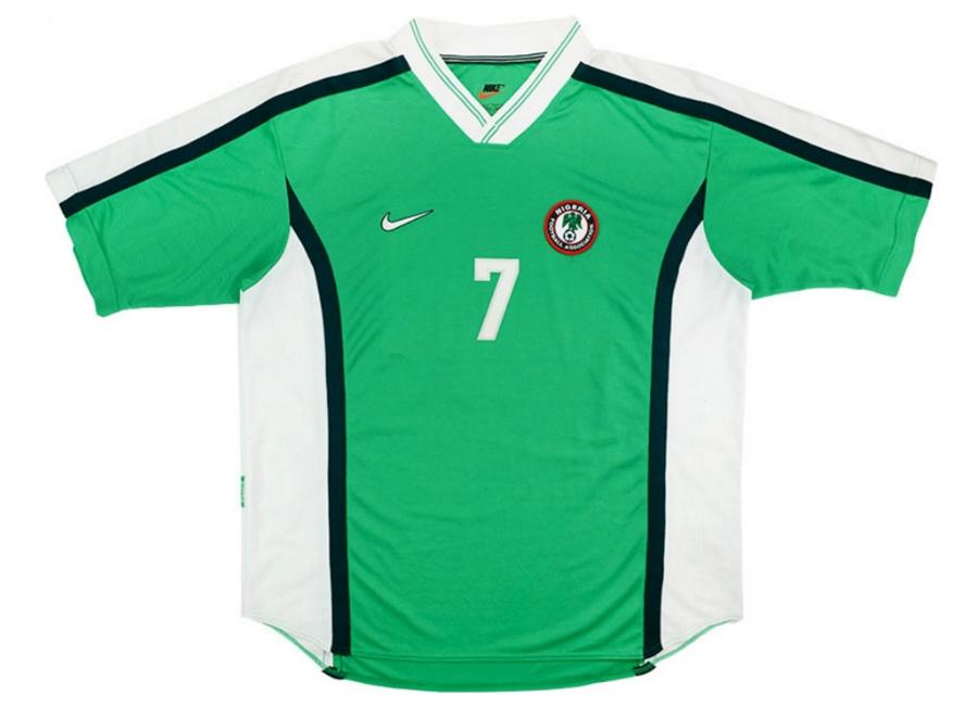 b7aa8599 Nike 1998 Nigeria Match Worn Home Shirt | Vintage Football Shirts | Football  shirt blog