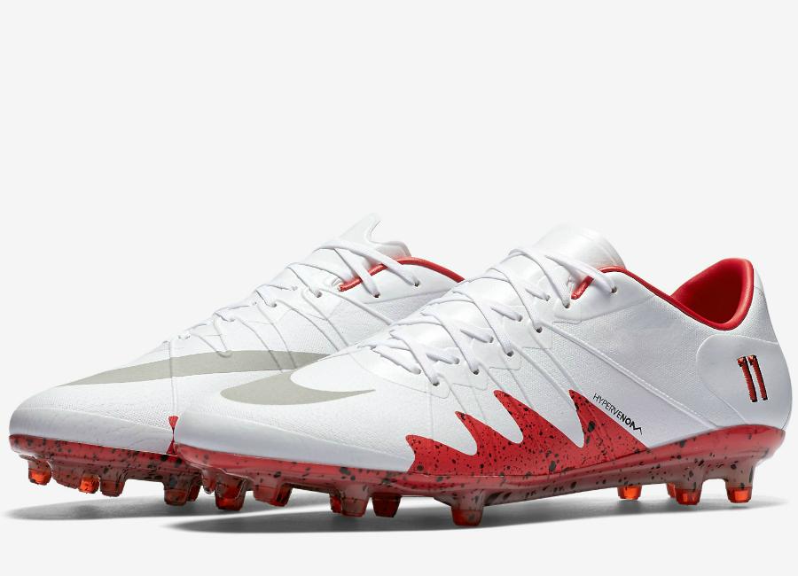 0302859029bd Nike Hypervenom Phinish Neymar Fg White Light Crimson Black Reflect Silver